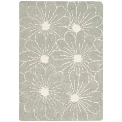 Soho Blue / Dark Ivory Contemporary Rug Rug Size: Scatter / Novelty Shape 2 x 3