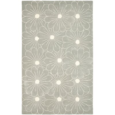 Soho Blue / Dark Ivory Contemporary Rug Rug Size: Rectangle 5 x 8
