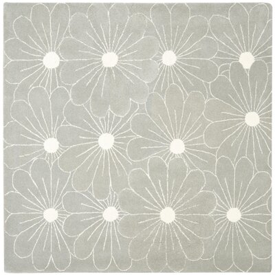 Soho Blue / Dark Ivory Contemporary Rug Rug Size: Square 6