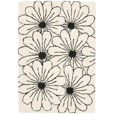 Soho Ivory / Black Contemporary Rug Rug Size: Scatter / Novelty Shape 2 x 3