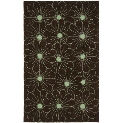 Soho Light Brown / Teal Contemporary Rug Rug Size: Rectangle 5 x 8