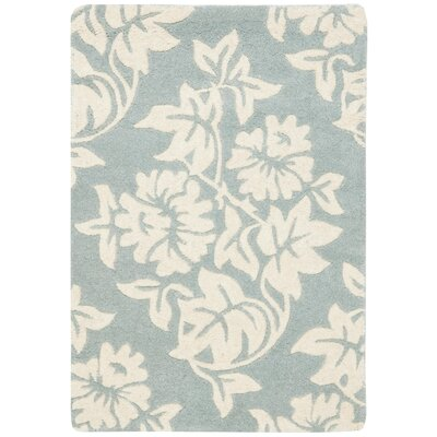 Soho Blue / Ivory Contemporary Rug Rug Size: Scatter / Novelty Shape 2 x 3