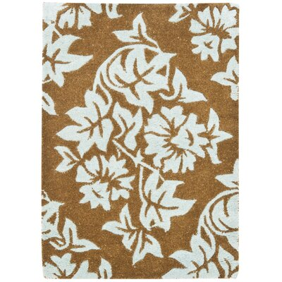 Soho Light Brown / Blue Contemporary Rug Rug Size: 2 x 3
