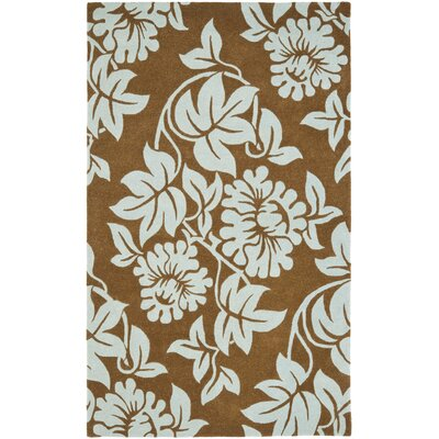 Soho Light Brown / Blue Contemporary Rug Rug Size: 5 x 8