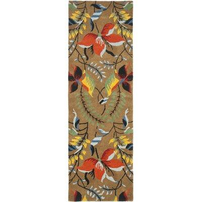 Soho Light Brown / Multi Contemporary Rug Rug Size: Runner 26 x 8