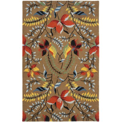 Soho Light Brown / Multi Contemporary Rug Rug Size: Rectangle 5 x 8
