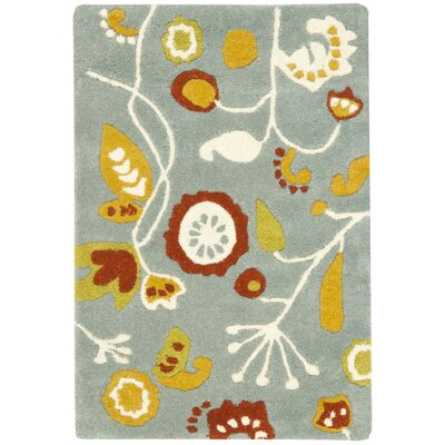 Soho Light Dark Blue / Multi Contemporary Rug Rug Size: Rectangle 5 x 8
