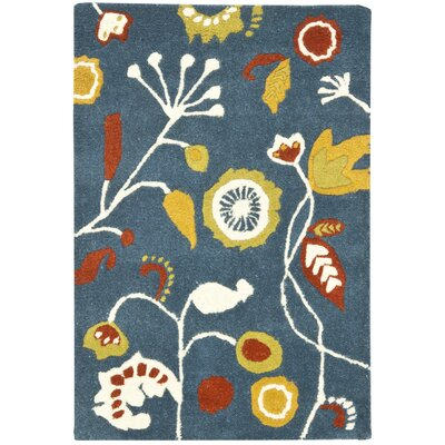 Soho Dark Blue / Multi Contemporary Rug Rug Size: Scatter / Novelty Shape 2 x 3