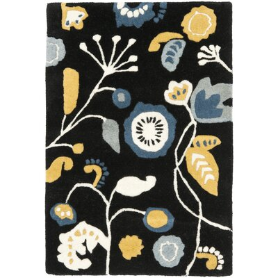 Soho Dark Black / Multi Contemporary Rug Rug Size: Scatter / Novelty Shape 2 x 3