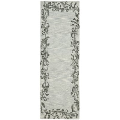 Soho Silver / Grey Contemporary Rug Rug Size: Runner 26 x 8