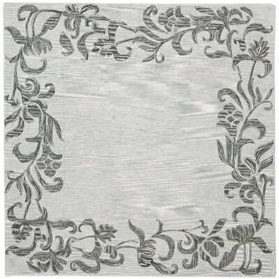 Soho Silver / Grey Contemporary Rug Rug Size: Square 6