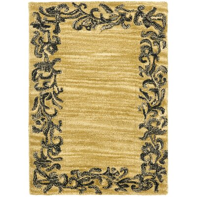 Soho Gold / Black Contemporary Rug Rug Size: Scatter / Novelty Shape 2 x 3