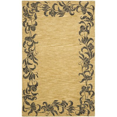 Soho Gold / Black Contemporary Rug Rug Size: Rectangle 5 x 8