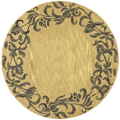 Soho Gold / Black Contemporary Rug Rug Size: Round 6