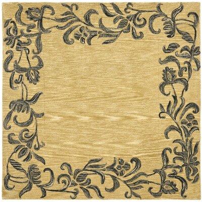 Soho Gold / Black Contemporary Rug Rug Size: Square 6