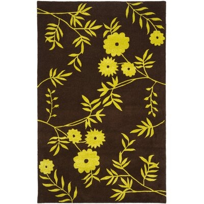 Soho Brown / Green Contemporary Rug Rug Size: Rectangle 5 x 8