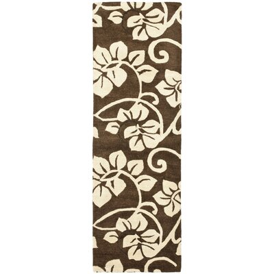 Soho Light Brown / Light Ivory Contemporary Rug Rug Size: Runner 26 x 8