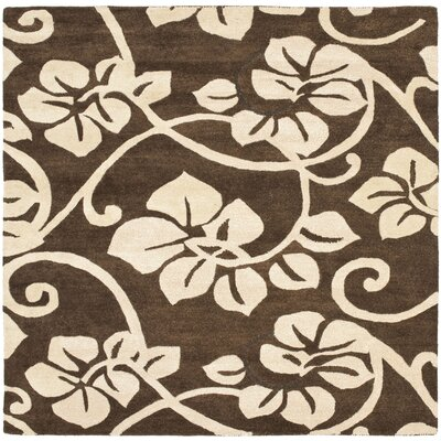 Soho Light Brown / Light Ivory Contemporary Rug Rug Size: Square 6