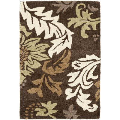 Soho Dark Brown / Light Multi Contemporary Rug Rug Size: Rectangle 2 x 3