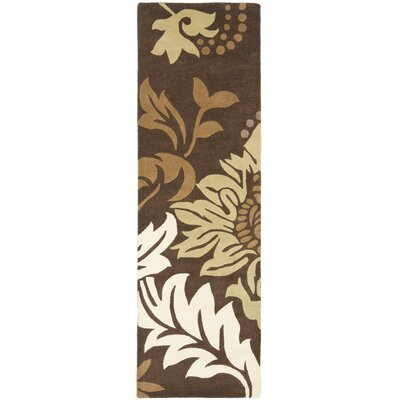 Soho Dark Brown / Light Multi Contemporary Rug Rug Size: Runner 26 x 8
