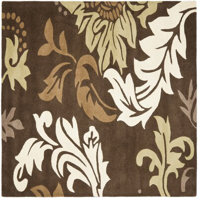 Soho Dark Brown / Light Multi Contemporary Rug Rug Size: Square 6