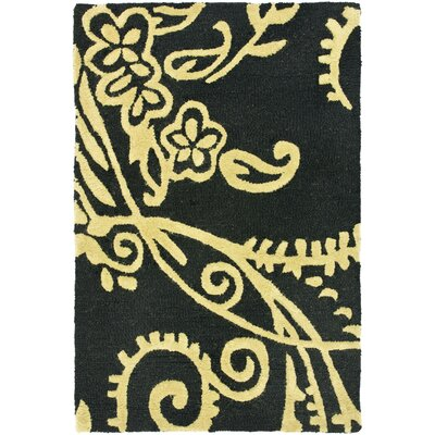Soho Black / Green Contemporary Rug Rug Size: 2 x 3