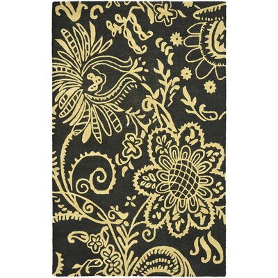 Soho Black / Green Contemporary Rug Rug Size: Rectangle 5 x 8