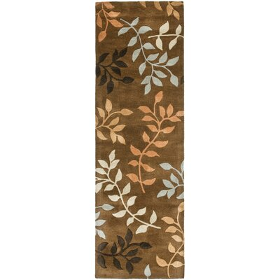 Soho Light Dark Brown / Light Multi Contemporary Rug Rug Size: Runner 26 x 8