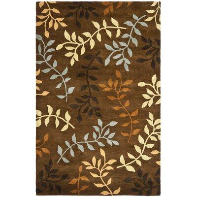 Soho Light Dark Brown / Light Multi Contemporary Rug Rug Size: 5 x 8