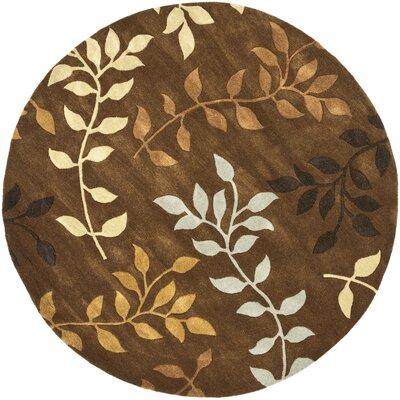 Soho Light Dark Brown / Light Multi Contemporary Rug Rug Size: Round 6