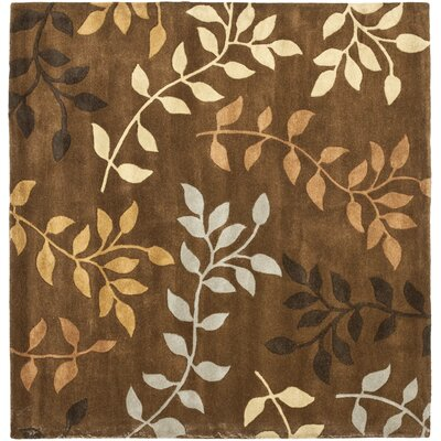 Soho Light Dark Brown / Light Multi Contemporary Rug Rug Size: Square 6