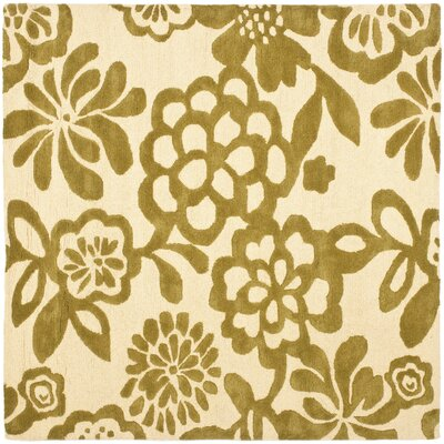 Soho Beige / Green Contemporary Rug Rug Size: Square 6