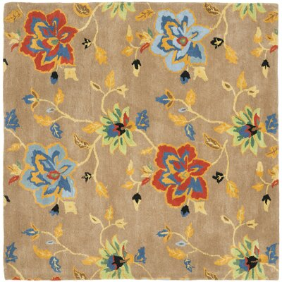 Soho Dark Light Brown / Multi Contemporary Rug Rug Size: Square 6