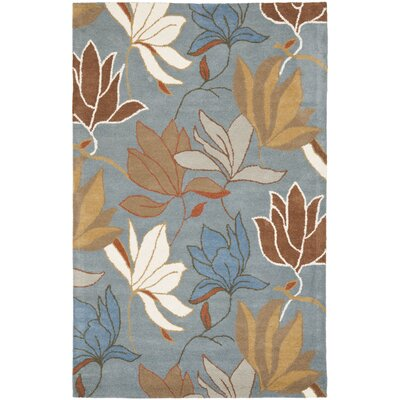 Soho Blue / Dark Light Multi Contemporary Rug Rug Size: 5 x 8