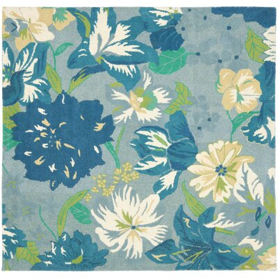Soho Blue / Multi Contemporary Rug Rug Size: Square 6