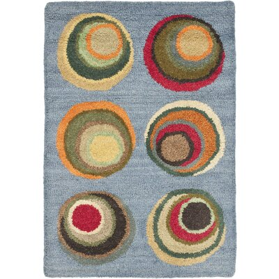 Soho Dark Light Blue / Multi Contemporary Rug