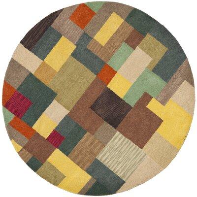 Soho Multi Contemporary Rug Rug Size: Round 6