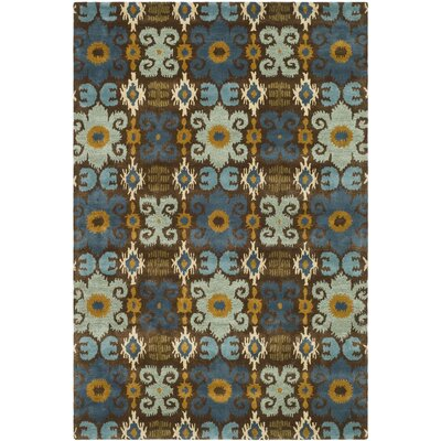 Dorthy Brown/Blue Rug Rug Size: Rectangle 96 x 136