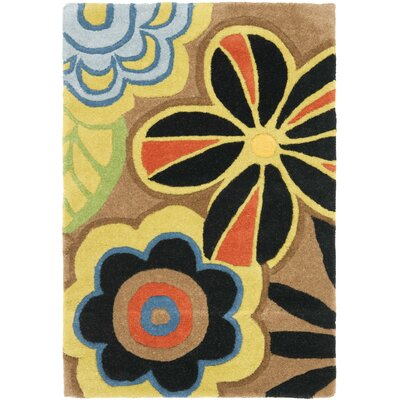 Soho Floral Brown / Multi Contemporary Rug Rug Size: Rectangle 2 x 3