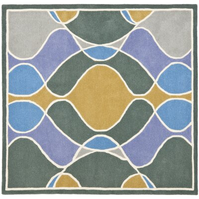 Soho Dark Multi Contemporary Rug Rug Size: Square 6