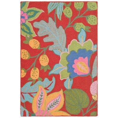 Jardin Red/Multi Rug Rug Size: 5 x 8