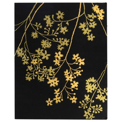 Soho Black Area Rug Rug Size: Rectangle 96 x 136