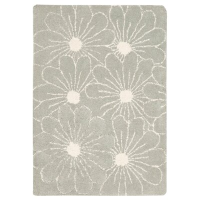 Soho Blue / Dark Ivory Contemporary Rug Rug Size: Rectangle 76 x 96