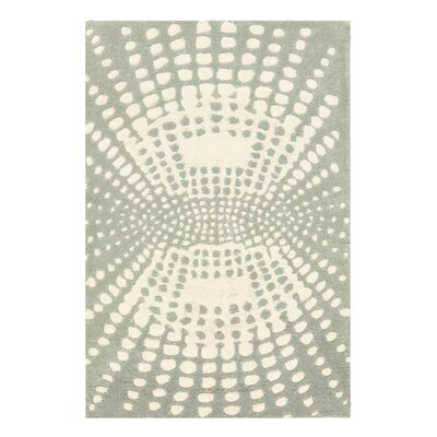 Soho Light Blue / Light Ivory Contemporary Rug Rug Size: 36 x 56