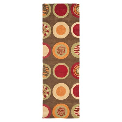 Soho Brown / Light Dark Multi Contemporary Rug Rug Size: Runner 26 x 14