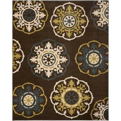Newport Brown/Green Area Rug Rug Size: 3 x 5