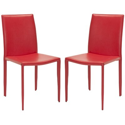 Lacey Side Chair Finish: Red