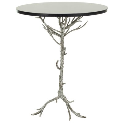 Jason End Table Finish: Black / Silver