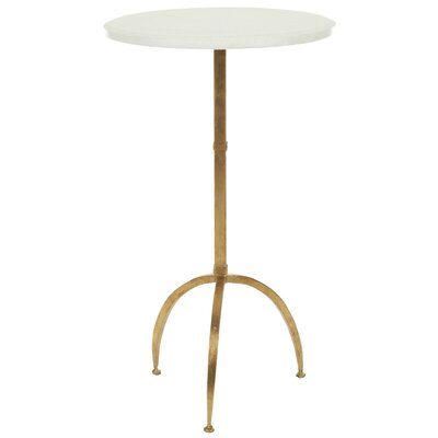 Crystal End Table Finish: White/ Gold