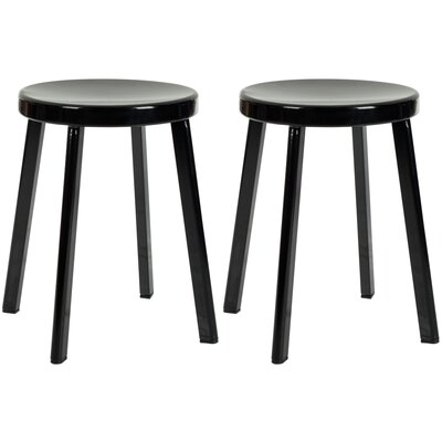 17.7 Bar Stool Finish: Black